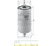Filtr paliva WDK725 MAN, MB Intouro, Solaris