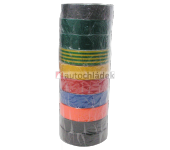 Páska izolační 20m/19mm 10 ks barevný mix
