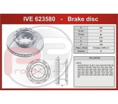 Kotouč brzdový IVECO Stralis zadní včetně ABS kroužku 432x45x154,5