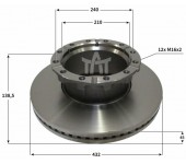 Kotouč brzdový IVECO E.Star 440E42, Stralis 440E40- 436x45x138,5 mm