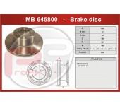 Kotouč brzdový MB Actros, Atego, Axor, Econic, MB Intouro 430x45x143,5 mm
