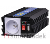 AUTOLAMP Měnič napětí z 24V DC na 230V AC 300W trvale+USB výstup