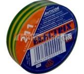 Páska izolační PVC 15x10 zelenožlutá