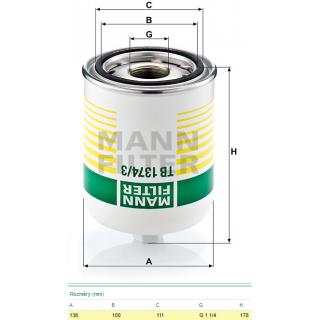 Filtr vysoušeče vzduchu SP1451