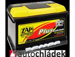 Autobaterie ZAP Plus 12V 60Ah 520A EN 56077