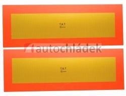 Samolepka reflexní návěs 565x196 mm - pár