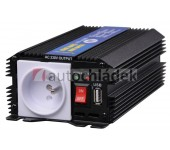 AUTOLAMP Měnič napětí z 12V DC na 230V AC 300W trvale+USB výstup