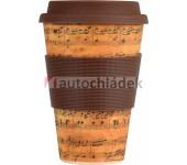 Bamboo Cup bambusový termo hrnek 400 ml notový zápis