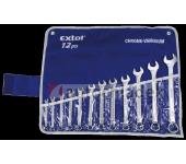 EXTOL Klíče otevřené/očkové 6-22 mm