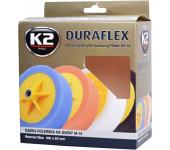 K2 DURAFLEX Leštící houba s úchytným talířem 150 x 50 mm oranžová
