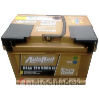 Autobaterie AUTOPART GALAXY GOLD 12V 61Ah 580A EN