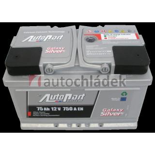 Autobaterie AUTOPART GALAXY SILVER 12V 75Ah 750A EN
