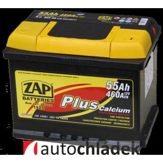Autobaterie ZAP Plus 12V 55Ah 460A EN 55559