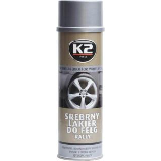 K2 SILVER LACQUER FOR WHEELS RALLY 500 ml - stříbrný lak na kola, ochrana proti korozi