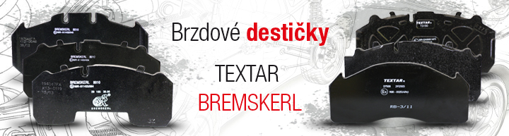 Brzdové destičky TEXTAR A BREMSKERL